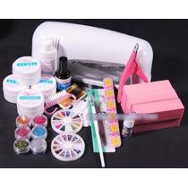 Mega Kit Completo P/ Unhas Gel/acrigel Secador Profissional