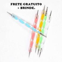 Frete Gratuito Kit 10 Boleadores Em 5 Pinceis + Brindes
