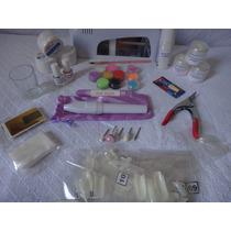 Kit Profissional Acrygel Uv Decoração De Unhas Cabine 9w