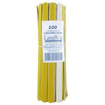 Kit 100 Lixas De Unha - 13cm