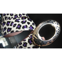 Cinto Dolce D&g Purple Leopard Collection