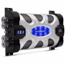 Mega Capacitor Audioart 35 Farad Digital Voltimetro Azul Som