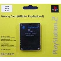 Memory Card 8mb Playstation 2 Original Sony Play Lacrado