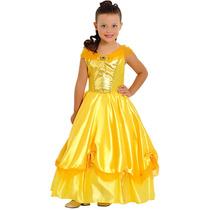 Fantasia Princesa Bela (bela E A Fera) Infantil De Luxo