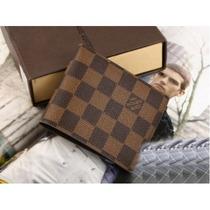 Carteira Louis Vuitton Masculina Damier Couro Legitimo