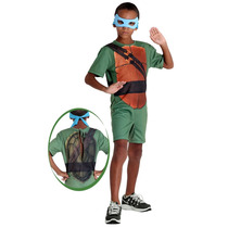 Fantasia Tartaruga Ninja Leonardo Infantil Pop C/ Máscara