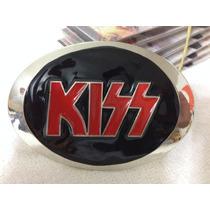 Fivelas Para Cinto Kiss Cromada Bandas Rock Heavy Metal Punk