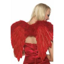 Fantasia Cupido Vermelho De Penas