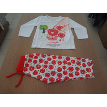 Pijama Cara De Criança Blusa Meia Malha + Calça. Tam: 1,2,3.