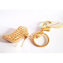 Chaveiro Personalizado Feminino Sapato De Cristal Dourado