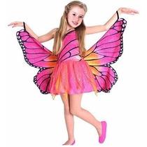 Fantasia Da Barbie Butterfly Infantil Luxo