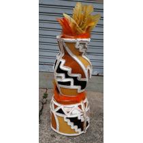 Fantasia Afro Cabeça Chapeu Casquete Adereço Usado