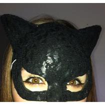 Mascara De Plástico Com Renda Mulher Gato Gatinha.