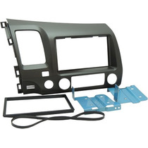 Moldura Painel Dvd 2 Din Honda New Civic 2007 A 2011 Grafite