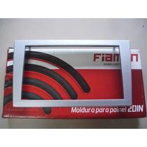 Moldura 2 Din Prata Para Dvd Multimídia Gm Vectra 2006/...
