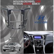 Moldura Painel 2 Din Hyundai Sonata 2011/2013 Básico