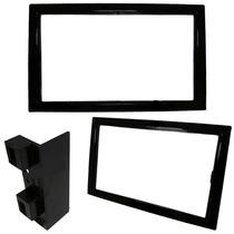 Moldura Painel Dvd 2 Din Chevrolet Captiva Black Piano