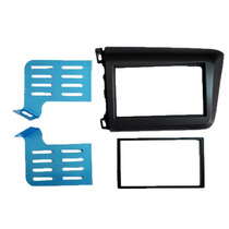 Moldura Painel Dvd 2 Din Honda New Civic 2012 - 2015 Grafite