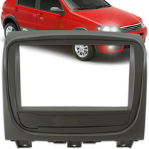 Moldura Painel Dvd 2 Din Fiat Palio Way 2015 Cor Cinza