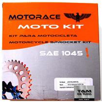 Kit De Relação Transmissão Yamaha Fazer 250 Aço 1045