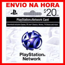 Playstation Network Card $20 - Cartão Psn $20 Envio Na Hora!