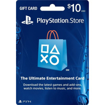 Cartão Psn Playstation Network Card Cartão Psn $10 Usd Dolar