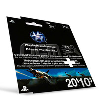 Playstation Network Card Cartão Psn Card $30 ($20+$10) Us