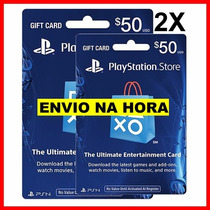 Playstation Network Card Psn 100 Dolares Cartão Ps4 Ps3 2 50