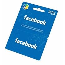 Facebook Card - Cartão R$ 25 Facebook Compras.
