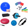 Kit Yoga Pilates C/ 15 Itens Bola, Thera Bands Overball Anel