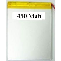 Bateria Para Mp3, Mp4, Mp5, Gps 450 Mah 4,1cm X 3,cm X 0,2cm