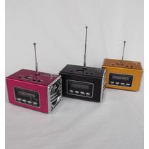 Mini Caixa De Som-leitor Usb Ipod Mp3 - Kit 03 Unidades