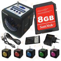 Caixinha Caixa Som 8gb Portátil Mp3 Fm Ws-909rl Carregador