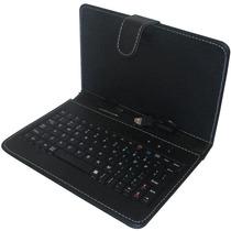 Capa Case De Couro Com Teclado Usb Para Tablet 9 Polegadas