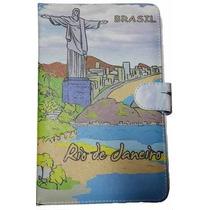 Capa Case C/ Teclado Usb Caneta Tablet 7 Polegadas Rio De...