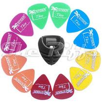 12 Fender Califórnia Thin + Porta Palhetas Com Frete Grátis!