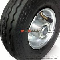 Roda 6x2 Pneumática 4 Lona Carrinho Carga Carreta P/ 150kg