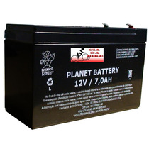 Bateria 12v 7 Ah Selada Planet Moto Elétrica No Break Alarme