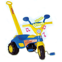 Triciclo Blue Music Com Porta Acessórios E Som - Cotiplás