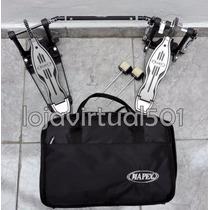 Pedal Duplo Mapex P501tw Com Case P/ Bateria Frete Grátis!!