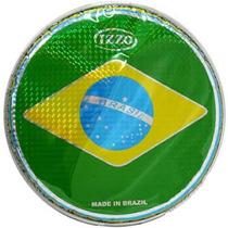 Pele Izzo Brasil Holográfica 12 Polegadas Percussão Pandeiro
