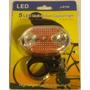 Lanterna Alerta Traseira Pisca Bicicleta Bike 5 Leds