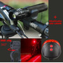 Kit Sinalizador Lanterna Tatica Led Acessório Bicicleta Bike