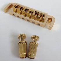 Ponte Fixa P/ Guitarra Ajustável - Dourada