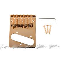 Ponte Fixa P/ Guitarra Telecaster Dourada