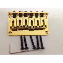 Ponte Fixa Para Guitarra Modelo Stratocaster Cor Dourada