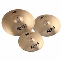 Kit Pratos Krest R Bronze Rset1 Hi Hat 14 16 20 C/ Bag 13017