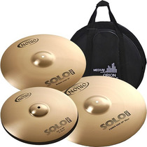 Kit Pratos 14 16 20 P/ Baterias Solo Pro Orion Pr70 C/ Bag