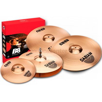Kit De Pratos Sabian Liga B8 5003-10 Performance 10 14 16 20