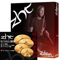Set Prato Zildjian Zht P4p-9-14hh-16crash-18 Crash-20 Ride